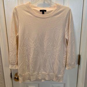 J crew cashmere 3/4 sleeve sweater